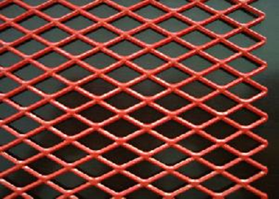 PVC Spraying Stamping Aluminum Expanded Metal Mesh 0.5 Thickness For Security