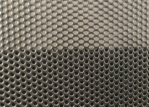 Black Power Coated Round Hole Aluminum Perforated Sheet For Windows / Doors Guard